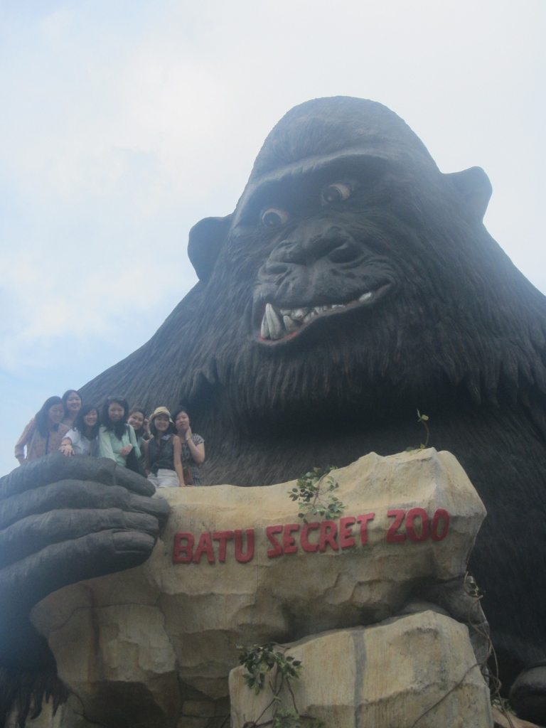 giant gorilla at Batu Secret Zoo