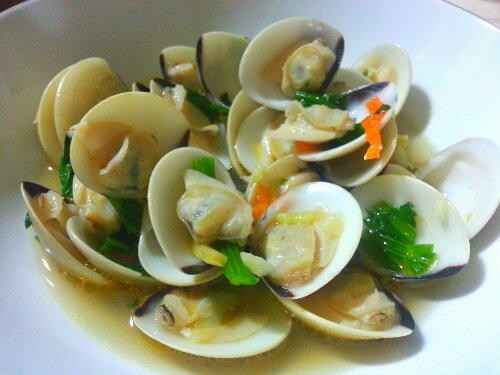 garlic ginger pipi clam