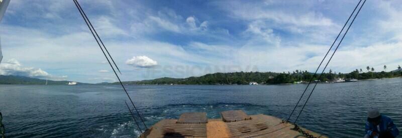 Ferry to cross Ambon Bay