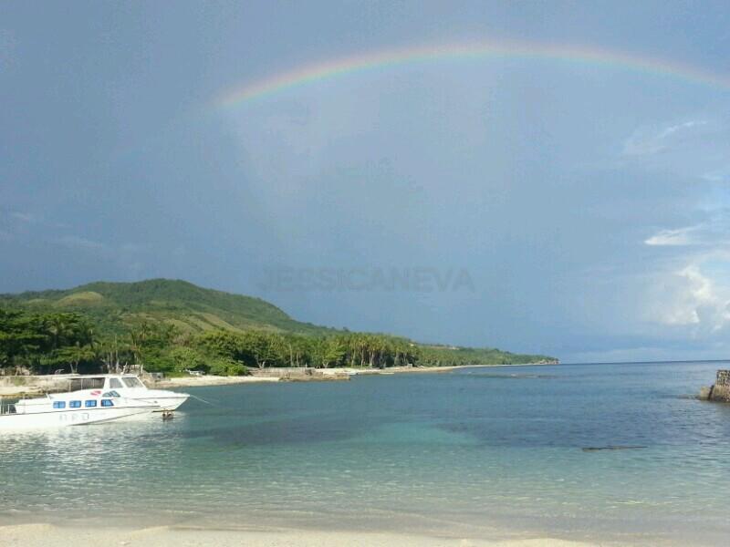 rainbow at Santai Beach