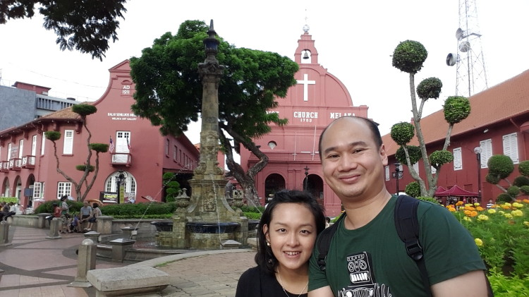 in front of Christ Church Melaka