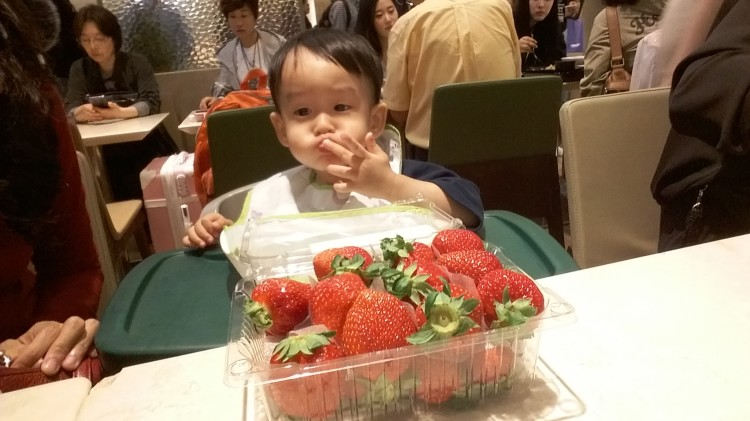 Korean strawberries at Lotte