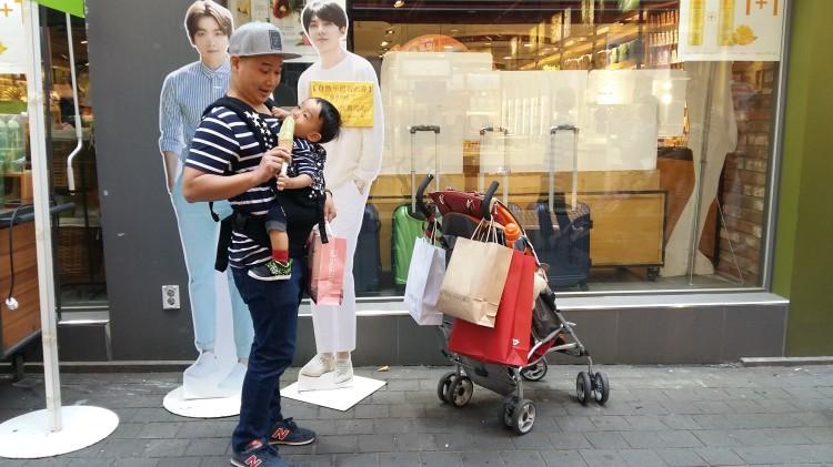 shopping at Namdaemun and Myeongdong
