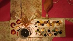 dessert platter at Vieux Chalet